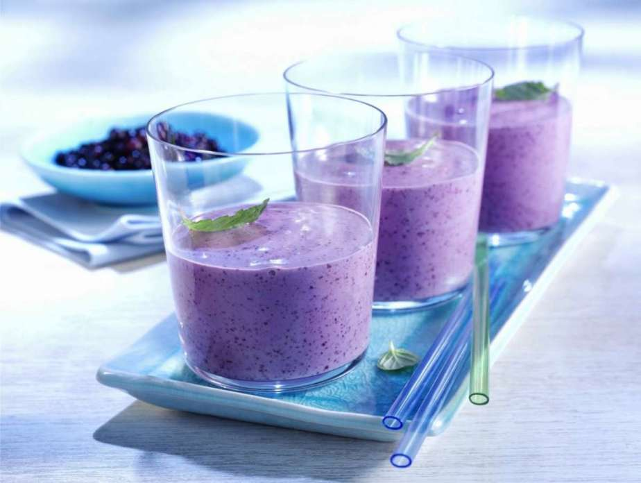 Smoothie ai mirtilli